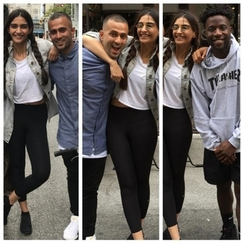 """Sonam Kapoor surprises rumoured beau Anand with a special gift on his birthday  Sonam Kapoor gifted something very interesting to her rumoured beau Anand Ahuja on his birthday. Check it out.  As we reported earlier thatSonam Kapooris enjoying her time in the New York City with rumoured beau Anand Ahuja, she also celebrated his birthday with a special surprise in store for him.  Looks like Anand loves extreme bike sports and keeping in mind the same she hooked him up with one of the renowned extreme bicyclesportspersonto make his birthday more memorable and special.  Anand took to his Instagram account to share the exclusive pics and also thanked the Bollywood star for the wonderful surprise. He captioned his series of posts as, """"Best birthday gift! @sonamkapoor. Thank you for thehook-up@nigelsylvester""""  In the series of pics, Anand also posted two Boomerang videos where we can see Sonam also having an amazing time with the extreme sports bikers.  Recently, when Sonam was quizzed about her relationship status with Anand Ahuja by a leading daily, the actress said, """"I don't want it to be written about. That has to be under my control. Everything else in my life is completely out of control. People are always saying things about me, on social media. They are always judging the way I look, the way I stand, the way I eat, the way I act, the way I speak. I need to protect others who come into my life because that person hasn't signed up for what I have. Why should he or she have to go through that? It's not fair. It's private and I don't believe in talking about it. I will not hide it but I will not talk about it either.""""  On the work front, Sonam was shooting for the Sanjay Dutt biopic which starsRanbir Kapoor, Paresh Rawal, Manisha Koirala, Dia Mirza,Anushka Sharma, Vicky Kaushal and Karishma Tanna. The movie is being helmed Rajkumar Hirani.  Sonam will soon start shooting for Veere Di Wedding which is being helmed by Shashanka Ghosh and also stars Kareena Kapoor Khan, S"""