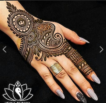 simple and nice mehandi design..