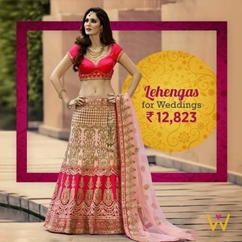 Pleasing blush pink lehenga for your special day!  Buy Now from WedLista.com - India's Premier 'Fashion for Weddings' Online Destination!  SHOP NOW: http://bit.ly/WL_Lehenga   #WedLista #FashionForWeddings #lehengalove #ethnicwear #onlineshopping #weddingcollection #weddinginspiration #roposodaily #ropo-love