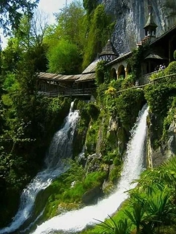 feel peace under the waterfall