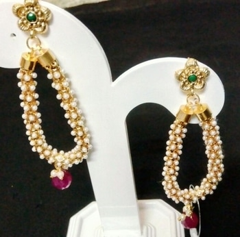Traditional South Indian Looks Earrings Just For Rs-250+$ For Buy #dm  #earringsoftheday #southindian #look #traditionallook #traditionalearrings  #earrings