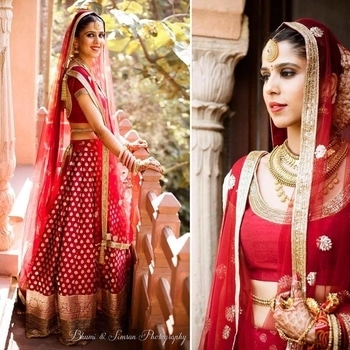 Quintessential bride!  Isn't she?  Image Credit: bhumiandsimran   #WedLista #FashionForWeddings #ethnicwear #wedding_wear #bridalwear #wedding-lehnga #weddingcollection #wedding_wear #ropo-love