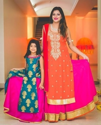 There is no love so serene!  Get matching outfits for your niece and yourself for weddings at WedLista.com!  Shot By: @avnish_dhoundiyal  Shop Now: WedLista.com  #WedLista #SummerWeddings