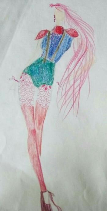 Women's Runway : Gan-e-sha 💖 Fashion illustrator : shal or shaz @roposotalks @roposocontests @roposobusiness @shalorshaz