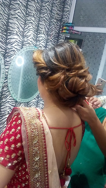 orchid#advhairstyling#hair-do#hairbun#carnations#originalflowers#happyclient@makeup__orchid