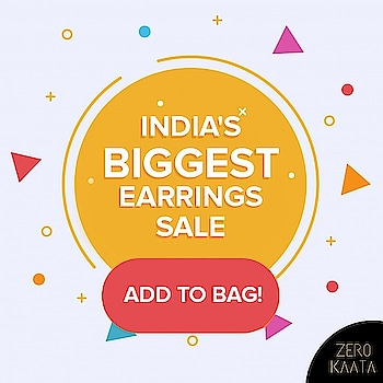 """❤ Its Add To Bag O' Clock❤ . """" Your Miss Is Your Miss and is None Of Our Miss . . India's Biggest Earrings Sale only on ZeroKaata😍😍 . SHOP NOW for Unique and Skin Friendly Designs at Flat 80% Off . . Visit www.zerokaata.com . . #jewellery #jewelry #jewelrysale #jewellrydesign #earringsale #earringshop #earringsogood #giveaway #fashionblogger #jewelleryshop #JewelleryBlog #sales #NecklaceHandmade #earringshandemade #jewelrymaking #jewelleryaddict #jewellerygram #jewellerysale #IndiasBiggestJewellerySale  #sale #dresses"""