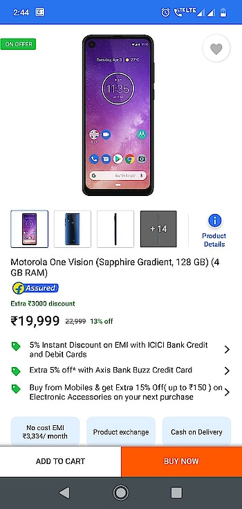 best modal MOTOROLA ONE VISION