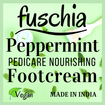 Your favourite Fuschia footcream is now #Vegan. With slightly modified #ingredients composition, #peppermint based footcream is now renewed. Available on our website www.myfuschia.com at pricing of 300 INR for 50 GM and 525 INR for 100 GM pack.   #madeinindia #handmade #pedicure #footcream #fuschia