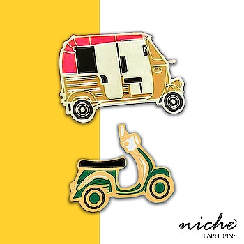 Are you a pin lover? So checkout our designs inspired by Indian travel modes at www.niche-one.com  #pins #lapelpins #enamel #india #pinlove #shopping #fashion #design #accessories #picoftheday #bloggers #fashionblogger #follow4follow #fun #cute #online #pinup #girls