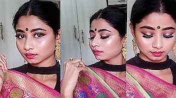 hii frnds...  new video has been uploaded on my YouTube channel... it's Indian wedding guest makeup look... ND to create this look I used minimum product so guys if u wanna recreate this look then go to my bio.. link has given there... #indianlook#indianweddinglooks#indianweddingmakeup#indianweddingmakeuplook#youtuber#youtubercreators#youtubevideo#youtubetutorial