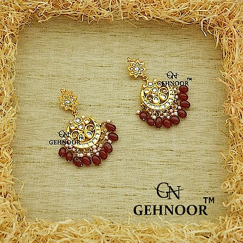 Prettiness at its very best!! ❤️❤️❤️ . Gorgeous Maroon Ruby Studded Kundan Chandbalis as part of our Maroon Magnificence Collection! 💕 . We are here to help you with all your Jewellery Queries & all of these are available at amazing pocket friendly prices 💕 . www.gehnoor.com 💻 . FREE SHIPPING anywhere in India 🚙 . Cash On Delivery Available across India 💲 . WhatsApp at 07290853733 📱 . www.facebook.com/Gehnoor/ . gehnoor@gmail.com 📝 . #bride #goldjewellery #kundannecklace #traditionaljewellery #indianbride #photooftheday #instabride #bridalwear #bridaljewellery #tags #like #likeforlike #followfollow #followus #followback #gehnoor #earrings #chandbali #kundan #everydayphenomenal #fashionblogger #indianfashionblogger #ColourMeGehnoor #maroon #Colourfest