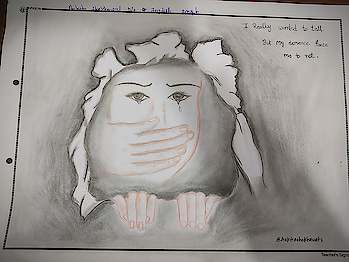 #ankitashekhawat  #pencilsketch  #sadquote  #savegirlchild