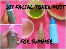#summerseries~1 2 DIY toner/facial mist for oily and acne prone skin...perfect for summer days Easy ,simple and 100% effective... do try this facial mist for refreshing your hot summer days... happy summers🍉🌞  Click this to watch the video 👉https://youtu.be/3BziXiuOBZU  #indianyoutuber  #summer  #diy  #natural  #beauty  #herbal  #youtubecreatorsacademy  #roposo #roposolove #soroposo #roposolive