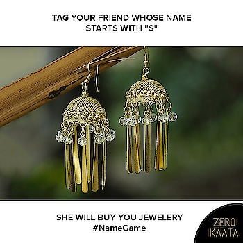 """Because a little token of love and bling never hurts!   All you ladies in the house tag your friends whose name starts with """"S"""" and celebrate the day sinfully.   #zk #zerokaata #fashion #style #jewelry #jewelrydesigner #jewelrybloger #jewelryshow #jewelrybrand #jewelrystyle #jewelryofig #jewelryporn #jewelryshop #jewelrylove #jewelryswag #jewelrygoals #jewelryonetsy #jewelrysale #jewelrylovers #jewelrygifts #wedding #Weddingjewelry #earringsfashion #earringslove #earringaddict #bling #jewelrygram"""