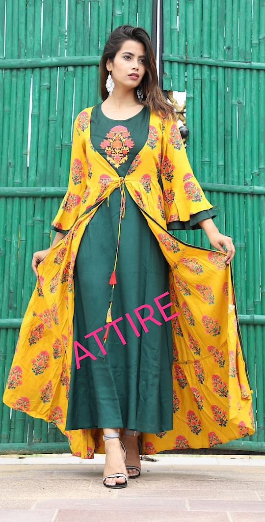 *ATTIRE launches two piece dress in new color and print*  Fabric- rayon   Size- m to xxl  Price- 1400 free shipping  *Ready to dispatch*