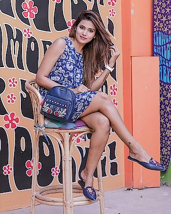 QUIRK IT UP 🗯👅 #wardrobesecrets #fashionblogger #fashioninfluencer #fashion #indianfashionblogger #picoftheday #summerdress #mumbaifashionbloggers  #mumbailifestylebloggers #summerlook #lookbook #mumbaitravelbloggers #bestpicoftheday #blue 📸 - @ajpictography