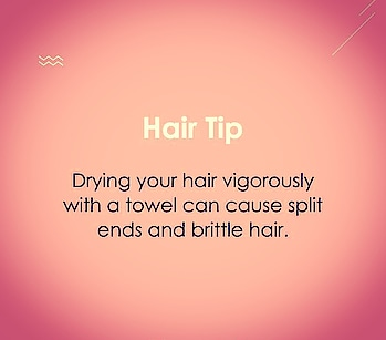 Avoid drying your hair vigorously to prevent damage! #hair #hairtips #haircare #haircaretips #haircareroutine #tipsandtricks