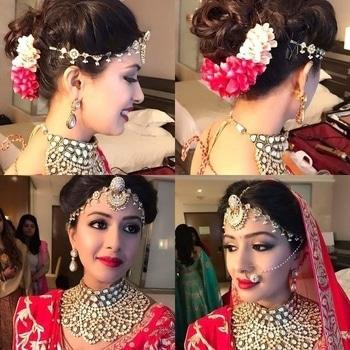 Bridal Look Inspiration!!!  Impeccable bridal makeup & hairstyle by ojasrajani!  #WedLista #FashionForWeddings