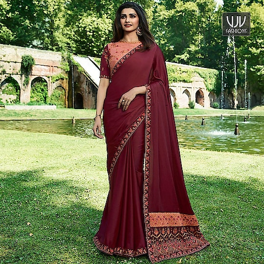 Buy Now @ http://bit.ly/VJV-SHEE19596  Prachi Desai Maroon Color Silk Classic Designer Saree  Price- ₹2,099.00  Fabric- Silk  Product No 👉 VJV-SHEE19596  @ www.vjvfashions.com  #saree #sarees #indianwear #indianwedding #fashion #fashions #trends #cultures #india #instagood #weddingwear #designer #ethnics #clothes #glamorous #indian #beautifulsaree #beautiful #lehengasaree #lehenga #indiansaree #vjvfashions #pretty #celebrity #bridal #sari #style #stylish #bollywood #sari