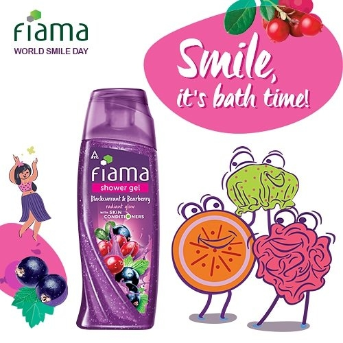 Ending your day with a #bath can instantly #uplift your #mood and make you #smile. So this #WorldSmileDay let's smile with #Fiama