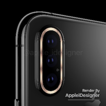 Camera module with triple lens, microphone hole & ring flash. #iPhoneXI #Concept  #Render by @AppleiDesigner https://t.co/DDrRqSi9UM😍   Damn I would like #Apple going that direction for #iPhoneXI rear camera setup design