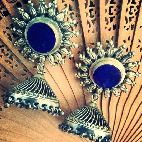 #silver #silverjhumka #earring #style #fashion For queries whatsapp 9309392933 #silverjewellery