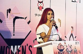 #zest #fitness #event #panel #discussion #speaker #sandhyashetty #model #actor #compere #anchor #karate #boldisbeautiful #mystyle #nofear #lifeisbeautiful #commonwealthkaratechampion2015 #SAKFCHAMPION2017 #beyourself #lovelivelaugh #womenpower @tajlandsend