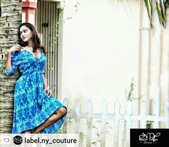 """"""" Her charm is her pride, her colour is her mood.. #womeninblue #nycoutureclothings #nycollection . . . . . . . . . . . . . . #butterfly #colours #dresses #asymmetrical #highlowdress #womenswear #looks #mood #women #lady #westernwear #casualfits #wardrobecollection #travelcloths #perfectpics #pictureperfect #playewithnature #natureandbeauty """""""