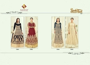 Brand - Sajawat . Type - Suit. Catlog name - Nagin vol -7. Book your order now . ** new catlog launch **