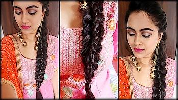 Punjabi Braid #hair #hairstyle #braid #hairideas #youtuber