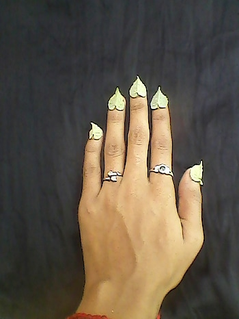 #nailart #leafnail #green #color #colors #natural #beauty #natural-look #nature