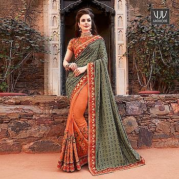 Buy Now @ https://goo.gl/M56f6f  New Grey And Orange Color Half N Half Designer Saree  Fabric- Fancy Fabric  Product No 👉 VJV-AMBI30008  @ www.vjvfashions.com  #saree #sarees #indianwear #indianwedding #fashion #fashions #trends #cultures #india #instagood #weddingwear #designer #ethnics #clothes #glamorous #indian #beautifulsaree #beautiful #lehengasaree #lehenga #indiansaree #vjvfashions #pretty #celebrity #bridal #sari #style #stylish #bollywood #vjvfashions
