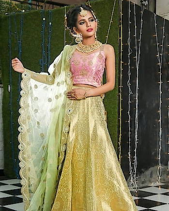 This mint green with hint of pink and golden hues will steal hearts of many.💞 Absolutely in love with #pastels 😘 Nothing is prettier than this lehenga. I completely agree. What about you???  Have a look at this and many more on www.rentanattire.com   #pastel #mintgreen #pink  #royal #puneblogger #trending #royalwedding #bride #groom #indianweddings #indianfashion #bigfatindianwedding #bigday #prep #bridalwear #designerwear #bridallehenga  #rentanattire #rentyourlook #ownyourstyle #fashiononrent #weddingphotographers #weddingplanners #weddingdesigners #wedmegood #pune #delhi #dehradun