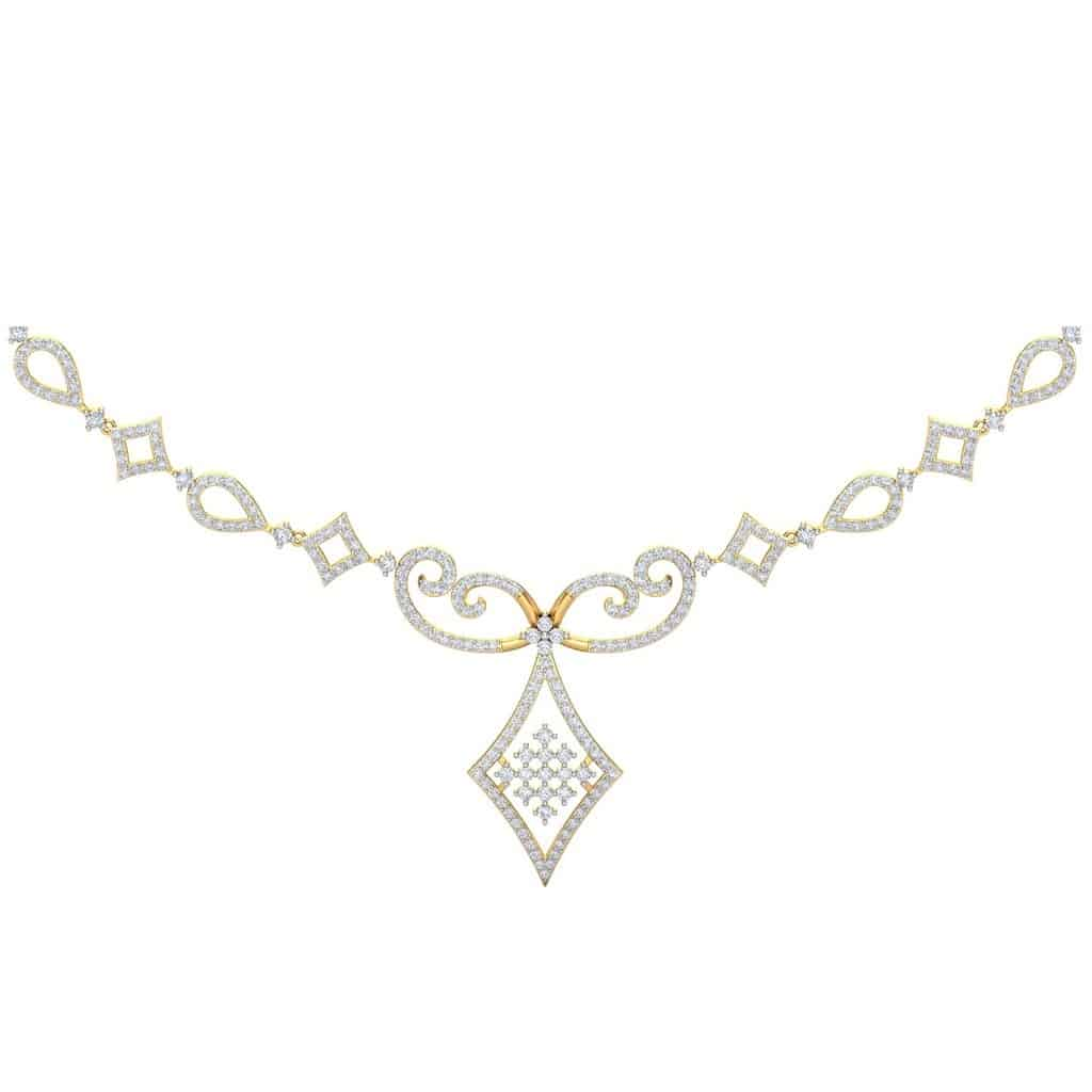 Diamond Necklace in 18K Yellow Gold with 323 pcs, 2.35 cts diamonds, certified by IGI - International Gemological Institute. Also, available in other diamond qualities, please contact our jewellery consultants for details. Chain is not included.http://www.sarvadajewels.com/the-victoria-diamond-necklace.html #sarvadajewels #diamondnecklace #necklace #diamonds #naturaldiamonds #diamondjewellery #jewellery #necklacedesigns #designerjewellery #roposo #soroposo #roposolove #roposofashion