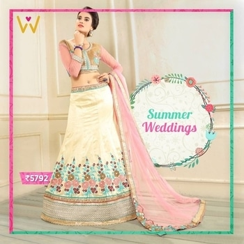 We just found our favourite outfit of the season - the beautiful lehenga collection for all the Indian brides!  Browse through the #SummerWeddings Collection From WedLista.com!  Product Code: 413  #WedLista #FashionForWeddings