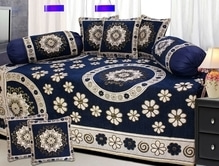 Diwan Sets (1+2+5) Fabric: Chenille Price: Rs 1050 + $ STU.... Book now Limited stock 9559147657