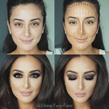make up.... perfect countouring highlighting tutorial... #highligting#countour#makeuptips#soroposo....