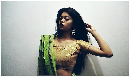 #blogger #ethnic-wear #saree #indianlook #trendy #likeforlike #followforfashion