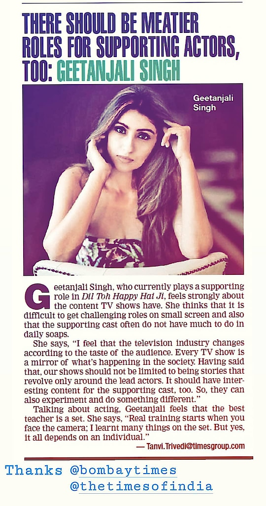 times of India #bombaytimes #timesofindia #timesmumbai #news #article #actress #film #television #geetanjalisingh #instagram #geetanjalisinghofficial #google #googlesearchengine