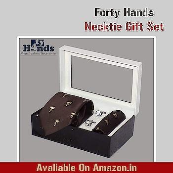 Forty Hands Men's Necktie Gift Set #fashion #men  #mensfashion  #fashionblogger  #fashionweek  #styles #styleblogger  #stylebloggerindia #tie #necktie #neckties #pocketsquare #cufflinks #giftbox #mensfashion #menswear #mensfashionpost