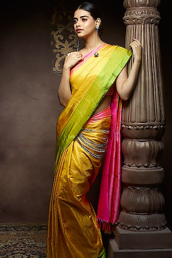The Lovely yellow Upadda silk Saree on The Miss India 2016 @priyadarshini.96 For more inquiry kindly watsapp us at 7829928490. For more collection visit our website www.samyakk.com  Share our Ten images with your Ten friends from our Instagram page & get 10% of off on your purchase from our website www.samyakk.com Hurry Up..This offer is till 15th of January  #samyakk #samyakkdesign #samyakkclothing #kanjeevaram #kanchipuram #silk #sareelove #sareelovers #saree😍 #sareesusa #sareeday #sareefashion #fashion #fashioninsta #sareeswag #traditionalbride #celebrity #fashiondesigner #pinkvilla #indianbride #indiancouture #missindia #feminaindia #modeling #missuniverse #model #missindia #missuniverse #missuniverse2017 #missindia2016 #priyadarshinichatterjee #feminaindia #fashiondesigner #fashion #saree
