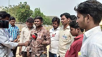 రాయలసీమ యూనివర్సిటీ లో జరిగిన అక్రమాలపై మీడియా తో మాట్లాడుతున్నా మహేంద్ర AISF