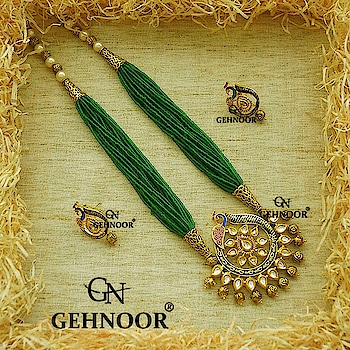 Green the Colour of Peace and Serenity! 💚 . It truly epitomizes Calmness and Happiness & that is exactly what we feel when we look at these beautiful Peacock Pendant Sets! 💚 One of our Bestselling Products this season! . www.gehnoor.com 💻 . FREE SHIPPING anywhere in India 🚙 . Cash On Delivery Available across India 💲 . WhatsApp at 07290853733 📱 . www.facebook.com/Gehnoor/ . gehnoor@gmail.com 📝 . #bride #goldjewellery #kundannecklace #traditionaljewellery #indianbride #photooftheday #instabride #bridalwear #bridaljewellery #tags #like #likeforlike #followfollow #followus #followback #gehnoor #earrings #chandbali #kundan #fashionblogger #indianfashionblogger #ColourMeGehnoor