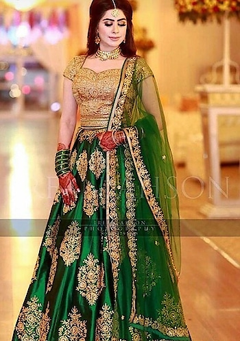 #fashionquotient #lehenga-for-wedding #bangleslove #necklacelove #fashionquotientchannel #greenlove #greenlehenga #roposolovers