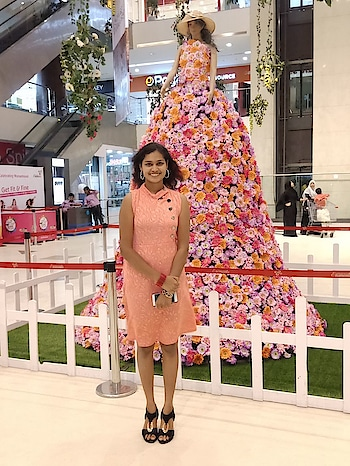 #dress-up #westernwear  #onepiece #pink #openhair #high-heels #style-owes-smile #stylebook #smilebright #smileisthebestmakeup #roposo-lov #ropo-fashion #ropo-girl #roposoonfire