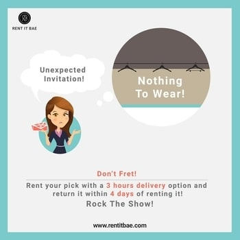 Did you Just Get an #Unexpected #Invitation for a #Party in the #Night? Rent It BAE is here to Rescue you! Just click on www.rentitbae.com and choose the #designerdress that you like the most... Throw in some #designeraccessories and Hit the #Saloon while we deliver your Order in 3 hours!   #fashion #latestfashion #delhifashion #ethnicwear #latestdesigns #designerwear #accessories #fashionemergency #beautifuldresses #apparel #womenclothing #partywear