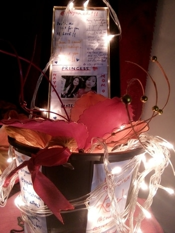 DIY Room Decor. 😍 Materials Needed- 1) A small sized bucket.  2) Fairy Lights 3) Fake flowers or leaves.  4) Photo Frame that fits inside the bucket.  5) Spray paint (Optional)  6) Ribbon (Optional)   Procedure- Take the bucket, spray paint it with the choice of your color. Let it dry for 15 mins. Take some beautiful fake flowers, leaves and put it inside the bucket, and then a photo frame with the best memories of yours, or maybe you can make your own DIY photo frame with some pictures and by drawing some cute doodles with markers, sparkle pens etc. Finally, take the fairy light and wrap it all over the bucket or maybe designing it just the way you want it to look. And ta-da there you are with the cheapest and the prettiest room decor you can ever have in your room. 💙💜 #SoRoposo #diylover #diy #roomdecor #cheapdecor #spraypaint #bloggerforlife #roommakeover #diyislove #diyaddict #fairylight @roposotalks