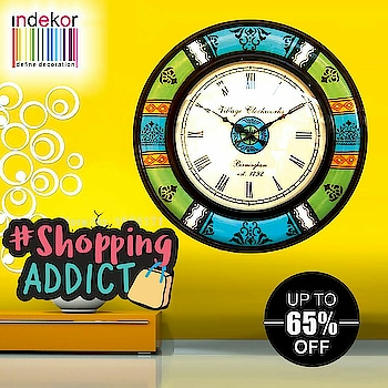 #shopnow at #indekor upto 65% off #limitedoffer #freeshipping #wallclock #walldecor #home #decorations #shoppingaddict #bazaar