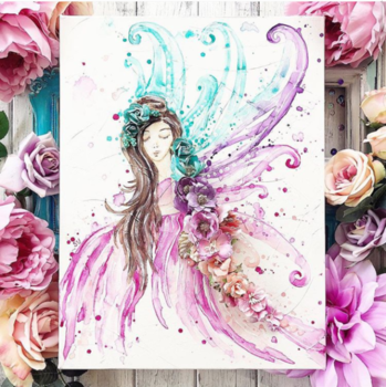 #naturelover #painting #stylishwomen #lovepainting #naturegram #nature #floraldesign #flowerdress