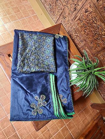 Mixed rose silk saree.. #beadsnstones #saree #sareelove #handembroidery #dailywear #simlplewear